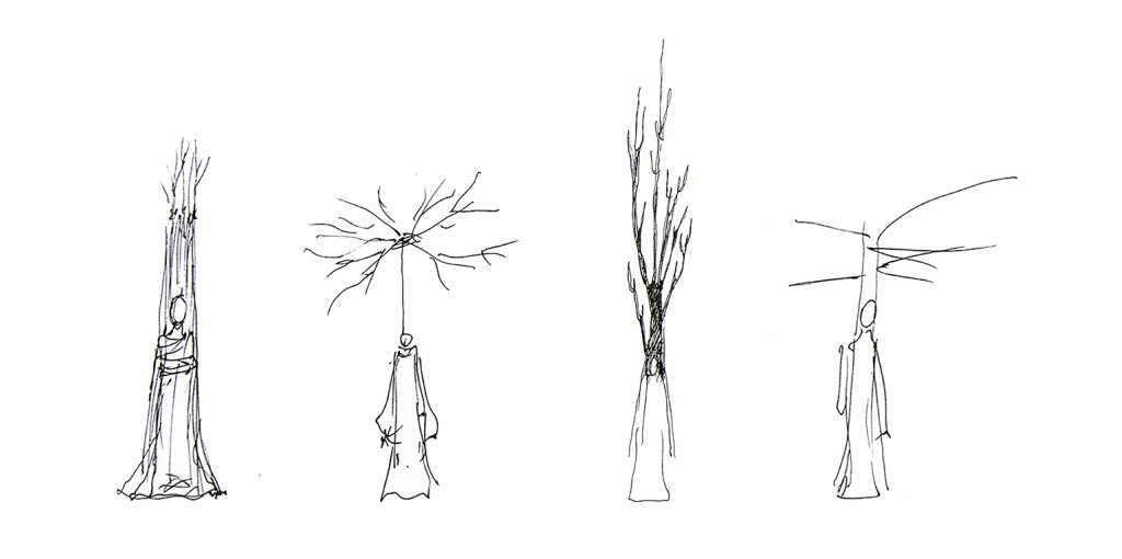 The opera choir as trees by Viktor Antonov 2015.